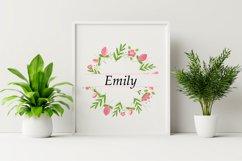 Monogram Flower Bundle. Floral Monogram Frame. Pink Flowers Product Image 4