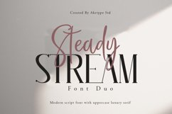 Steady Stream Font Duo Product Image 1