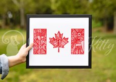 Canada flag zentangle, Canadian, maple leaf, Canada Day Product Image 9