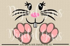 Rabbit face and feet SVG / PNG / EPS / DXF files Product Image 2