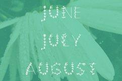 Flowered handwritten summer font in ttf, otf Product Image 4