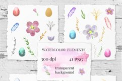 Easter Eggs . Watercolor clip-art collection. Product Image 3