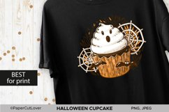 Halloween Cupcake With White Cream Ghost PNG Sublimation Product Image 2