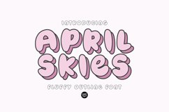 APRIL SKIES Fluffy Layered Font Product Image 1