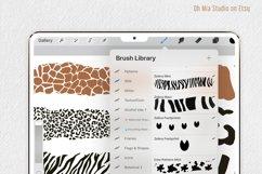 PROCREATE Animal Pattern Brushes | Wild Animals Footprint Product Image 4