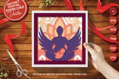 Papercut 3D Layered Mother with Child Flower and Wings SVG Product Image 4