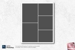 8x10 Photo Collage Photoshop Templates Product Image 4