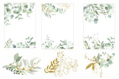 Watercolor Eucalyptus Wreath Clipart. Product Image 2
