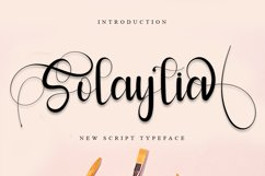 Solaytia | Modern Script Font Product Image 1