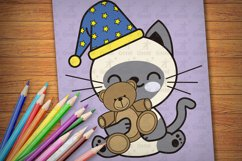 Printable Kitties Coloring Pages for Kids, Vol. 3 Product Image 4
