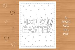 Happy Easter. Coloring page. Product Image 1