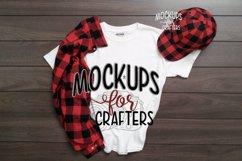 White Gildan Tshirt for children, Mock-up, Product Image 1