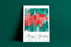 Christmas geometric pattern and postcard set. Product Image 5