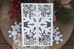 White Christmas Snowflake Invitation cutting file Product Image 3