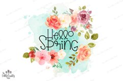 Hello Spring PNG Sublimation Design Product Image 3