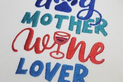 Dog Mother Wine Lover Embroidery design, 5 sizes Product Image 2