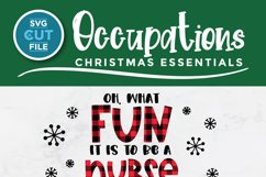 Christmas Nurse Practitioner svg - np svg - oh what fun Product Image 3