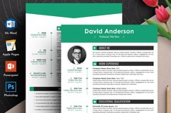 Clean Editable Resume Cv Template in Word Apple Pages Format Product Image 1