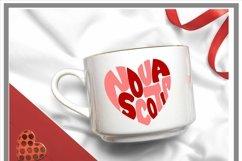 Canadian Province Nova Scotia Heart Shaped Word Art SVG Product Image 2