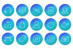 Set Of Multimedia Icons Product Image 1
