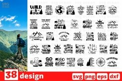 Camping SVG Bundle| Hiking Cut File | Silhouette Product Image 6