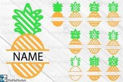 Split Pineapple Designs - Clip art / Cutting Files 1319c Product Image 1