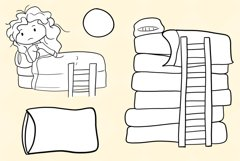 Princess and the Pea Story Book Stamps Product Image 3