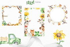 Farm Watercolor Clipart. Cards, frames, seamless patterns Product Image 4