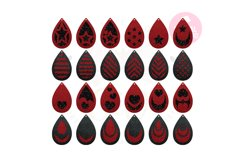 Teardrop Earring Template  50 Templates Earring svg Product Image 2