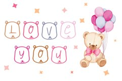 teddy bear font Product Image 3