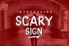 Scary Sign Product Image 1