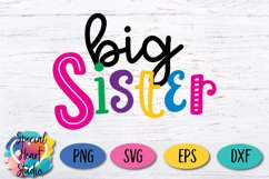 Big Sister - A family and sibling SVG Product Image 2