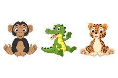 Set of Nine Cartoon Baby Animal Bundle Product Image 3