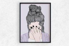 Wall art A woman crying sad Product Image 1