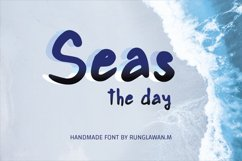 seas the day - A cute handwritten font Product Image 1
