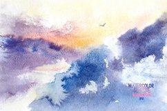 Watercolor sunrise Product Image 1