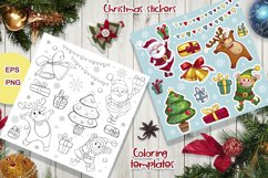 Merry Christmas. Characters, stickers, cards. Product Image 4