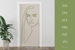 One line portrait illustration SVG PNG Face 2 Product Image 3