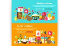 Happy Easter Website Banners Product Image 5