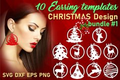 10 Leather Christmas earrings svg bundle Necklace svg Product Image 1