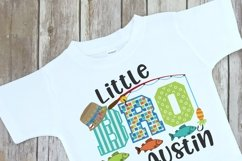 Fishing Themed Little Brother Sibling Design Product Image 2