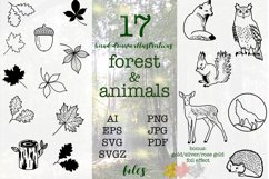 SVG EPS Bundle Forest animals silhouettes Product Image 1