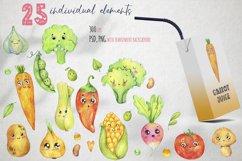 Cute vegetables clipart. Digital paper set Product Image 3