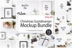 Christmas Scandinavian Mockup Bundle Product Image 1