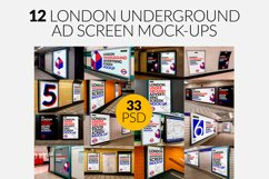 12 London Underground Ad Screen Mock-Ups Bundle / 33 PSD Product Image 1
