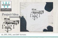 BUNDLED Football Cutting Files KWD006 Product Image 5