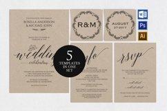 Wedding invitation set portrait, TOS_35 Product Image 1