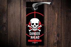 Danger Ahead Door Hangers Product Image 1