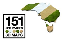 3D Maps Images Dry Earth Snow Grass Terrain JPG Bundled Product Image 1