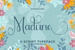 Web Font Madune Product Image 1